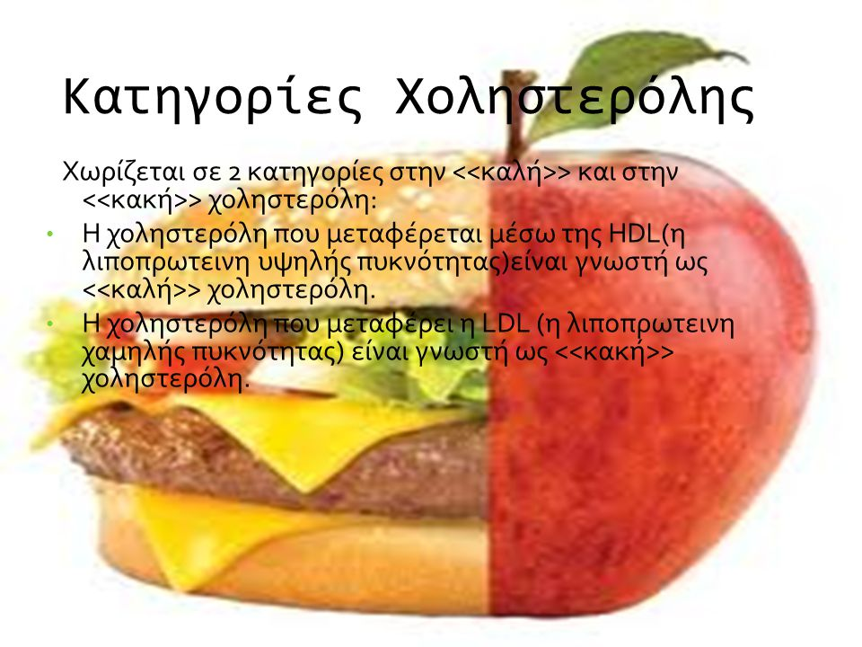 Κατηγορίες Χοληστερόλης