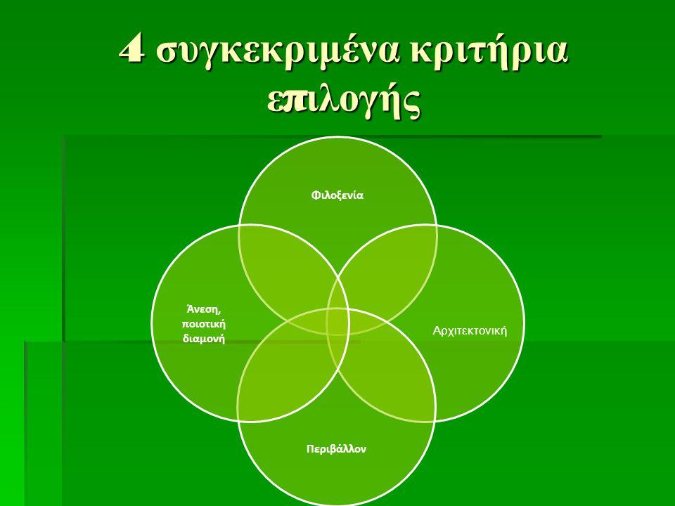 4 συγκεκριμένα κριτήρια επιλογής