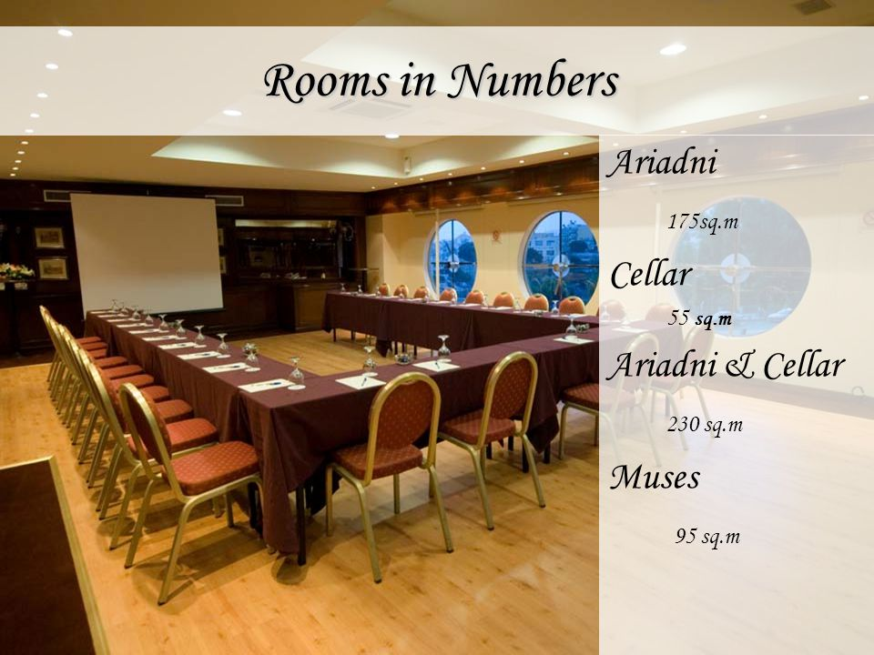 Rooms in Numbers Ariadni 175sq.m Cellar Ariadni & Cellar 230 sq.m