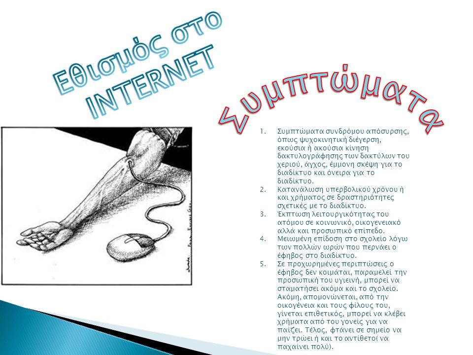 Συμπτώματα Εθισμός στο INTERNET