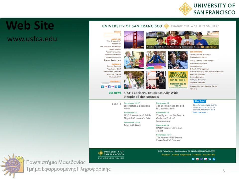 Web Site www.usfca.edu