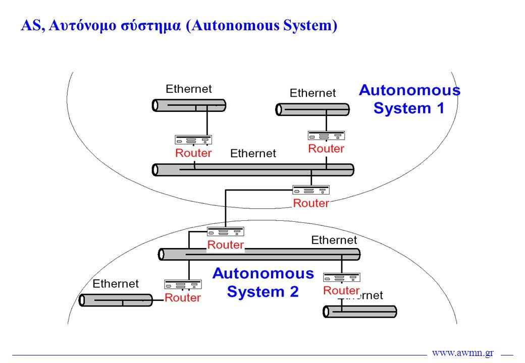 AS, Αυτόνομο σύστημα (Autonomous System)