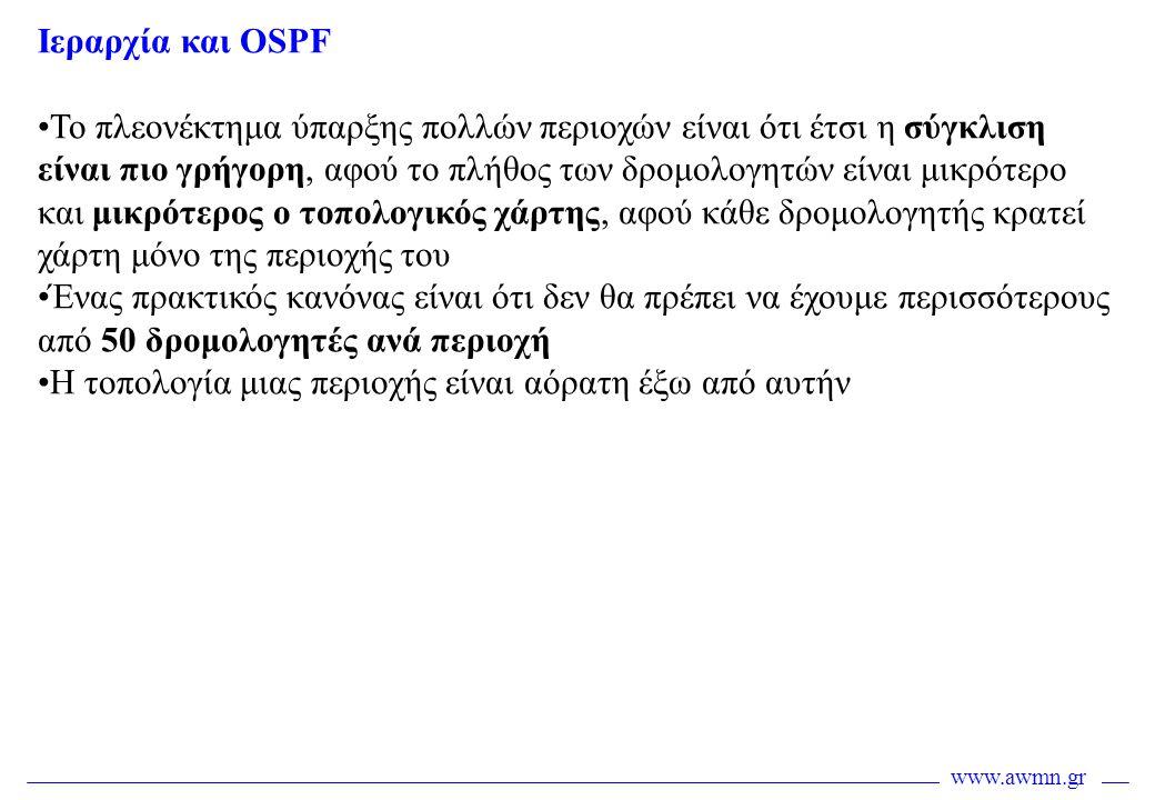 Ιεραρχία και OSPF