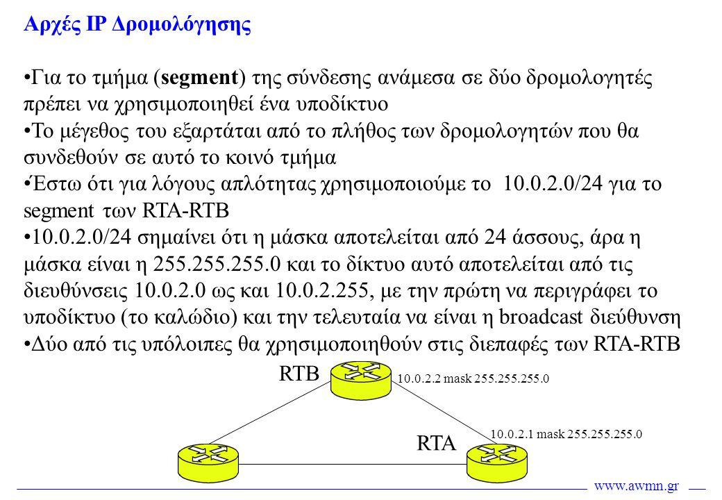 Δύο από τις υπόλοιπες θα χρησιμοποιηθούν στις διεπαφές των RTA-RTB