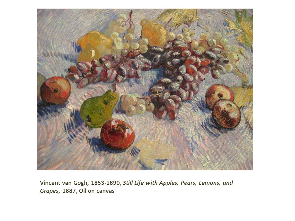 Vincent van Gogh, , Still Life with Apples, Pears, Lemons, and Grapes, 1887, Oil on canvas