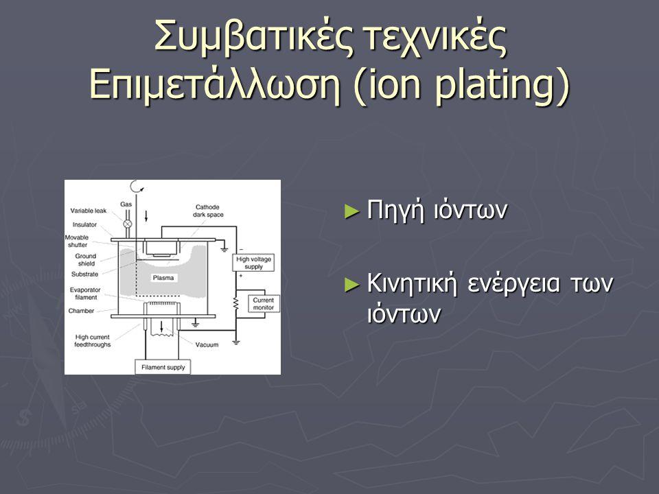 Συμβατικές τεχνικές Επιμετάλλωση (ion plating)