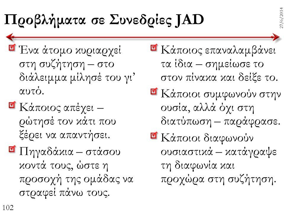Προβλήματα σε Συνεδρίες JAD
