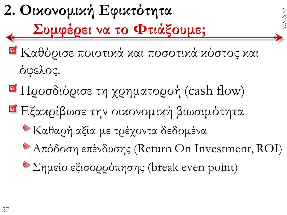 2. Οικονομική Εφικτότητα Συμφέρει να το Φτιάξουμε;