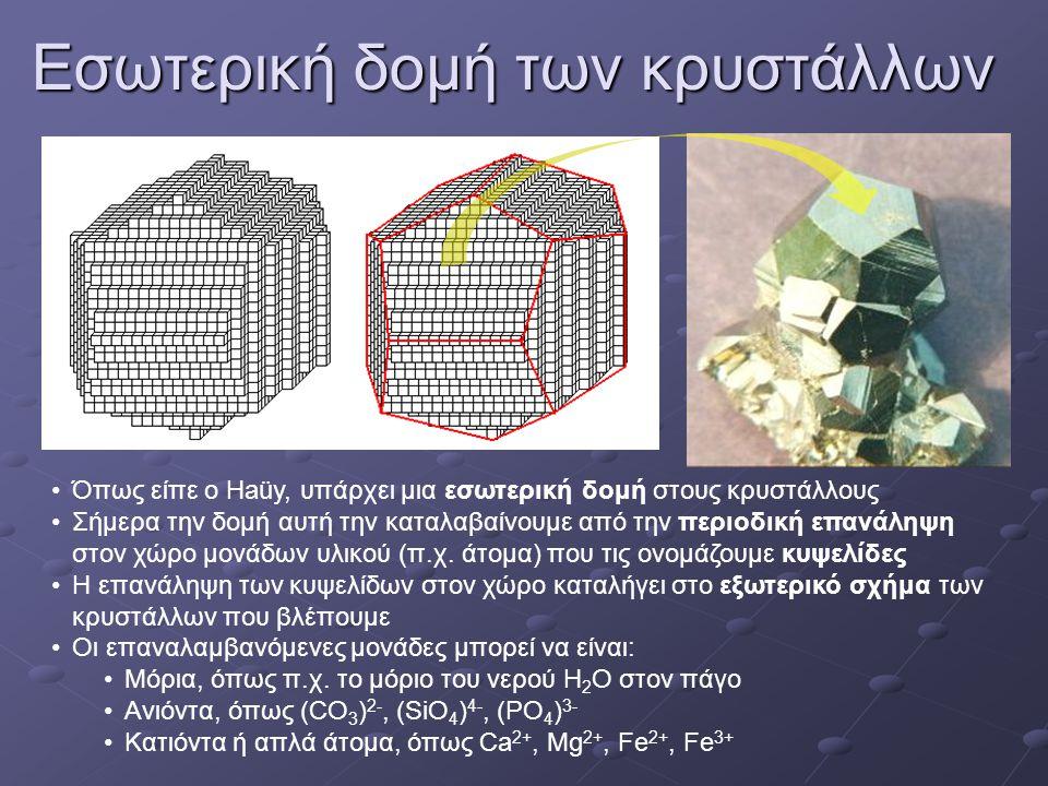 Εσωτερική δομή των κρυστάλλων