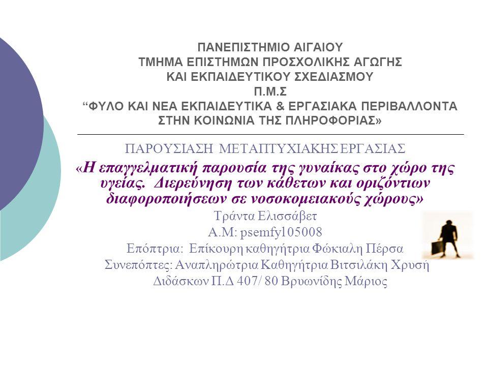 ΠΑΡΟΥΣΙΑΣΗ ΜΕΤΑΠΤΥΧΙΑΚΗΣ ΕΡΓΑΣΙΑΣ