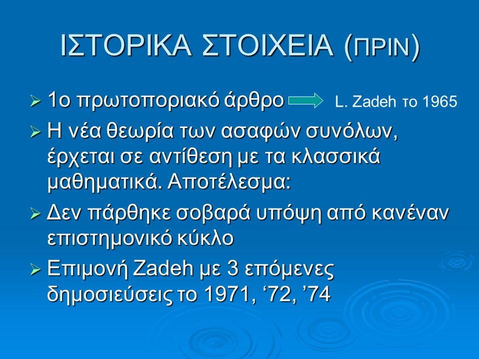 ΙΣΤΟΡΙΚΑ ΣΤΟΙΧΕΙΑ (ΠΡΙΝ)