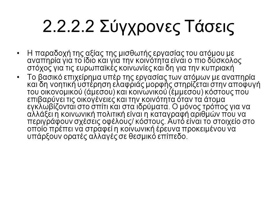 2.2.2.2 Σύγχρονες Τάσεις