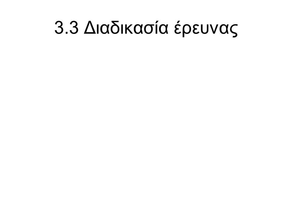 3.3 Διαδικασία έρευνας