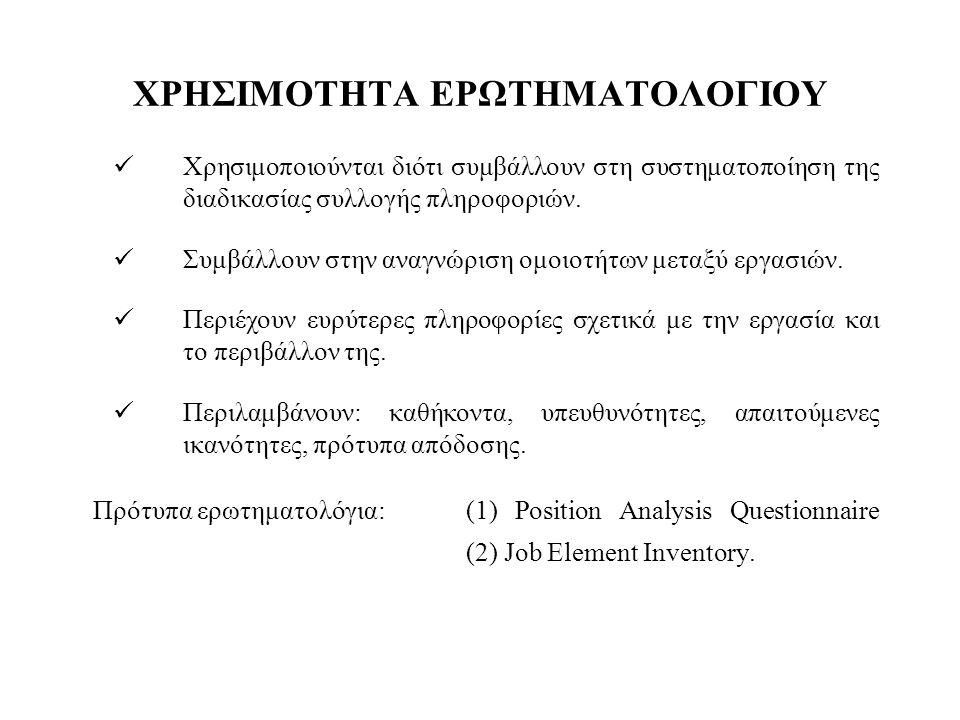 ΧΡΗΣΙΜΟΤΗΤΑ ΕΡΩΤΗΜΑΤΟΛΟΓΙΟΥ