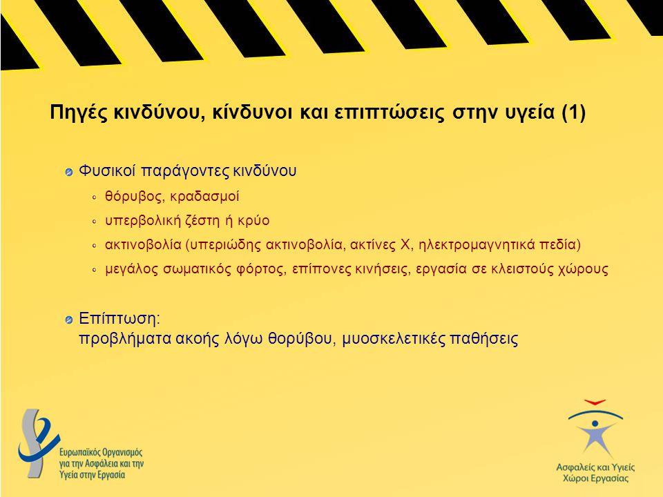 Πηγές κινδύνου, κίνδυνοι και επιπτώσεις στην υγεία (1)