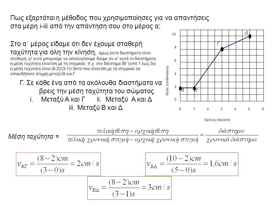 Μεταξύ Α και Γ ii. Μεταξύ Α και Δ