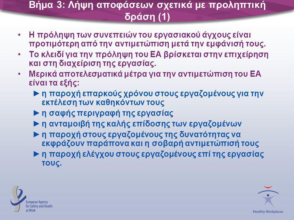 Βήμα 3: Λήψη αποφάσεων σχετικά με προληπτική δράση (1)