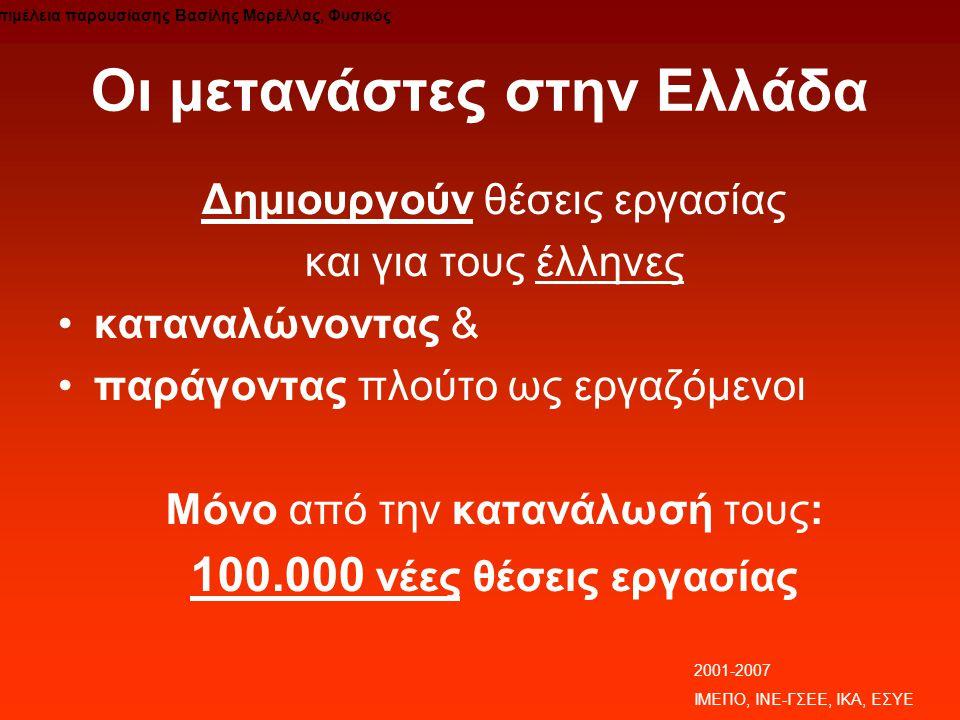 Οι μετανάστες στην Ελλάδα