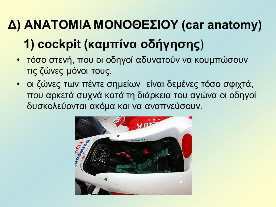 Δ) ΑΝΑΤΟΜΙΑ ΜΟΝΟΘΕΣΙΟΥ (car anatomy)