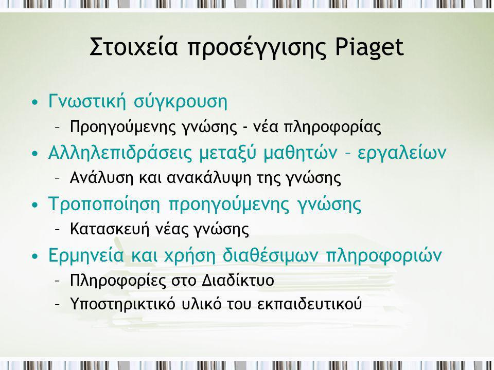 Στοιχεία προσέγγισης Piaget