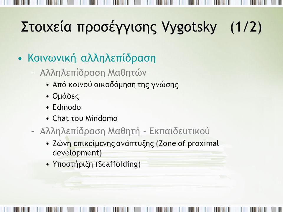 Στοιχεία προσέγγισης Vygotsky (1/2)