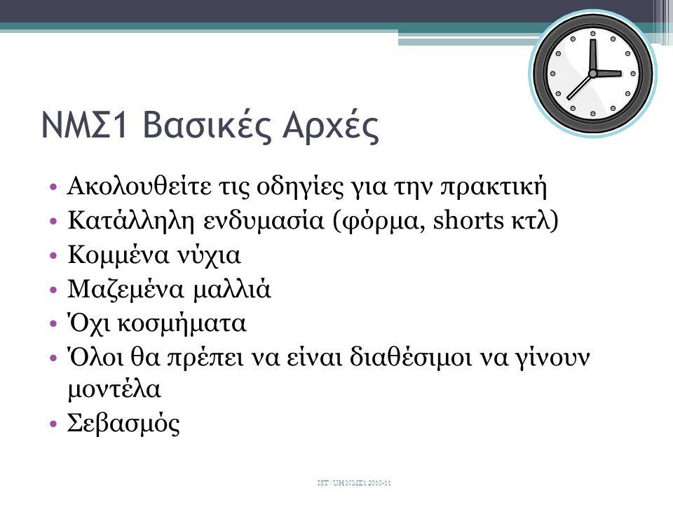 ΝΜΣ1 Βασικές Αρχές Ακολουθείτε τις οδηγίες για την πρακτική