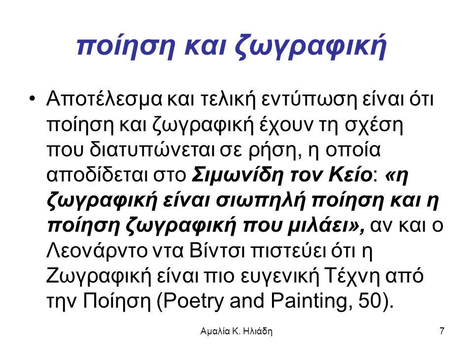 ποίηση και ζωγραφική