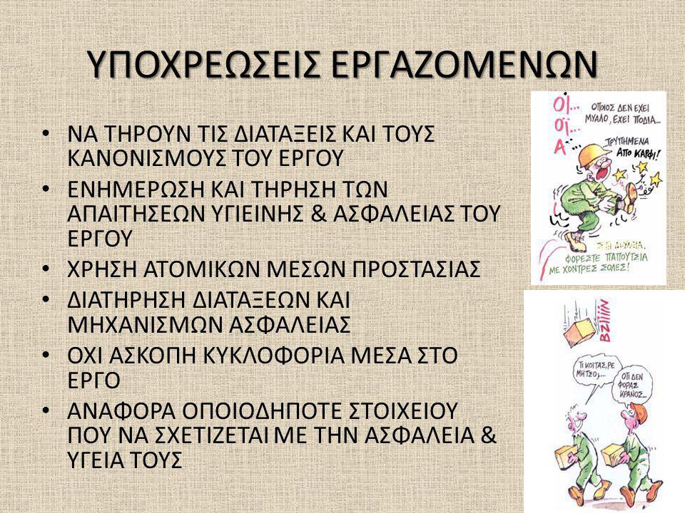 ΥΠΟΧΡΕΩΣΕΙΣ ΕΡΓΑΖΟΜΕΝΩΝ