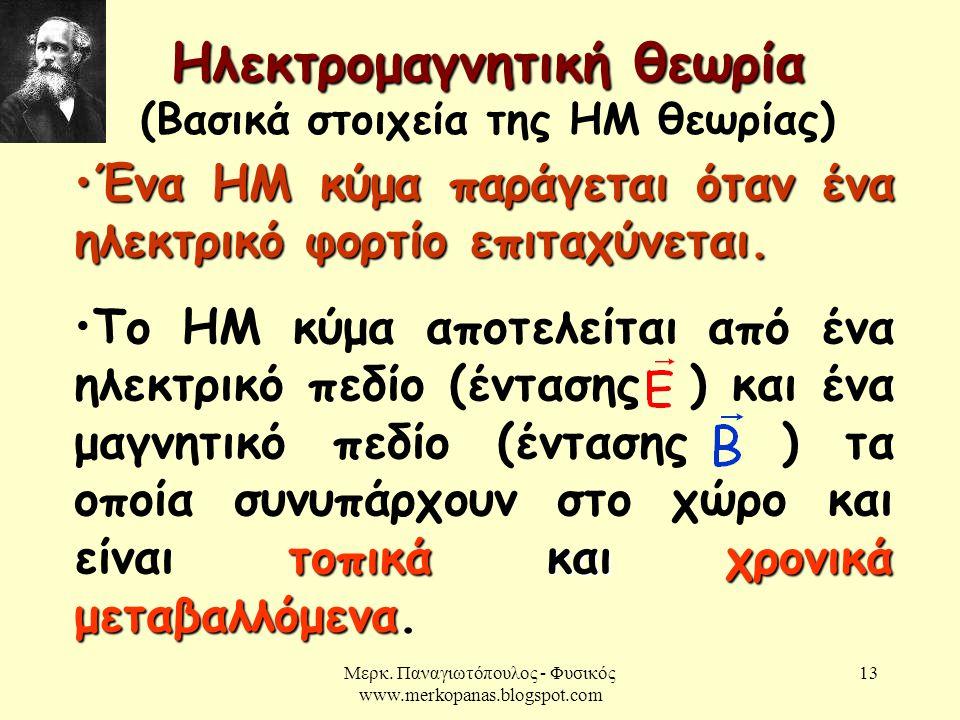 Ηλεκτρομαγνητική θεωρία (Βασικά στοιχεία της ΗΜ θεωρίας)