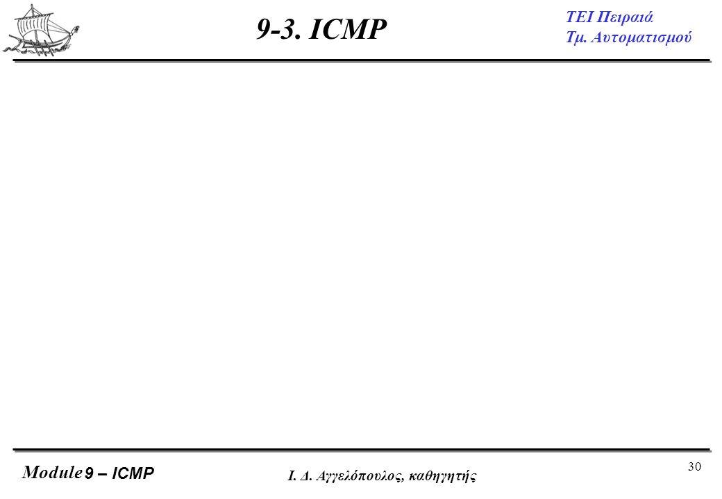 9-3. ICMP 9 – ICMP Ι. Δ. Αγγελόπουλος, καθηγητής