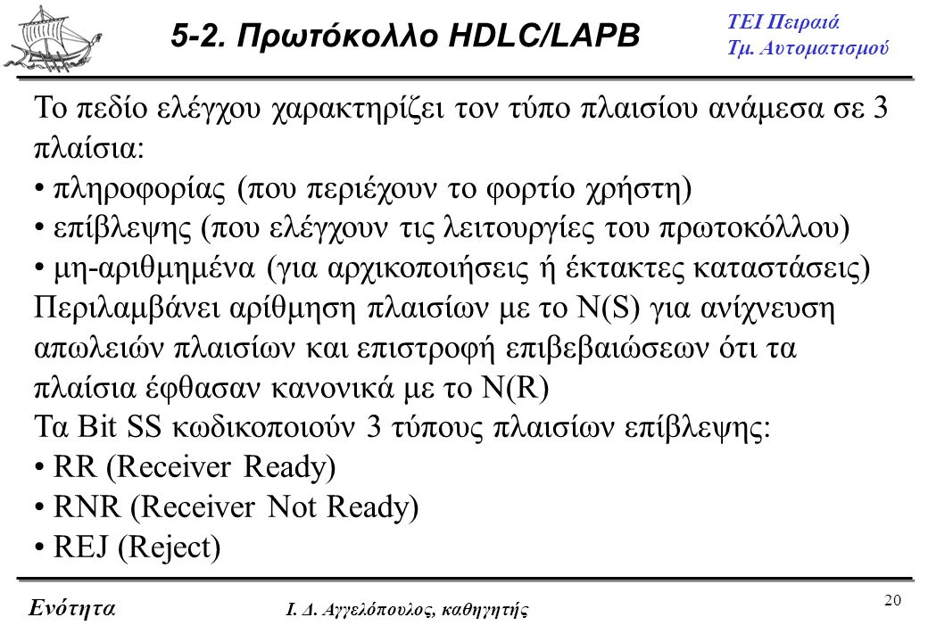 5-2. Πρωτόκολλο HDLC/LAPB