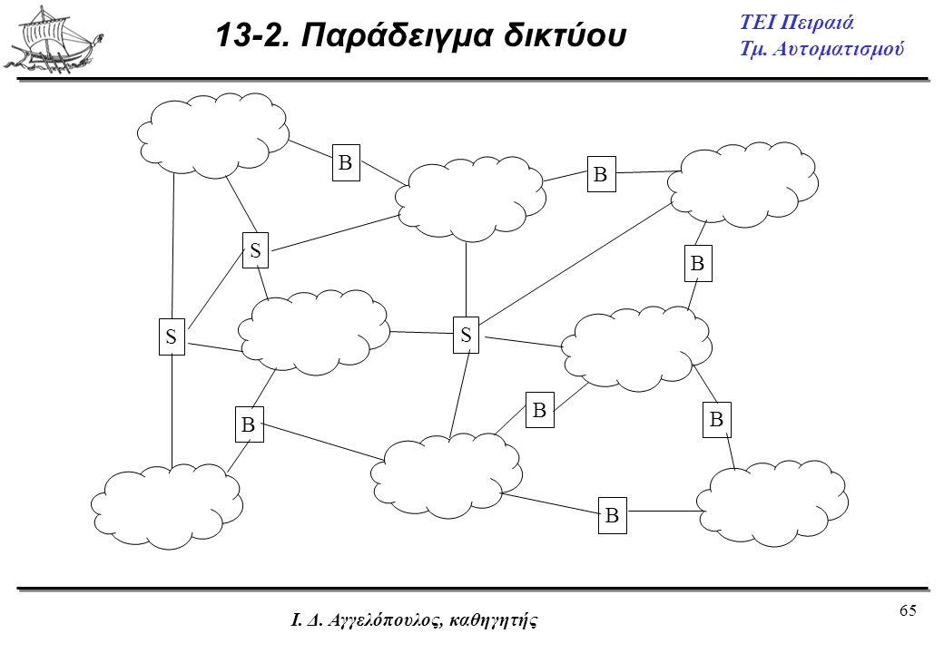 13-2. Παράδειγμα δικτύου S B Ι. Δ. Αγγελόπουλος, καθηγητής