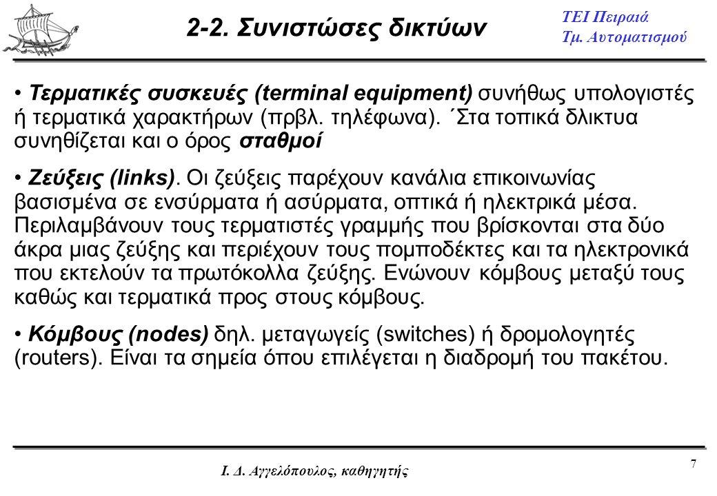 2-2. Συνιστώσες δικτύων
