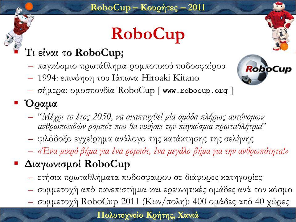 RoboCup Τι είναι το RoboCup; Όραμα Διαγωνισμοί RoboCup