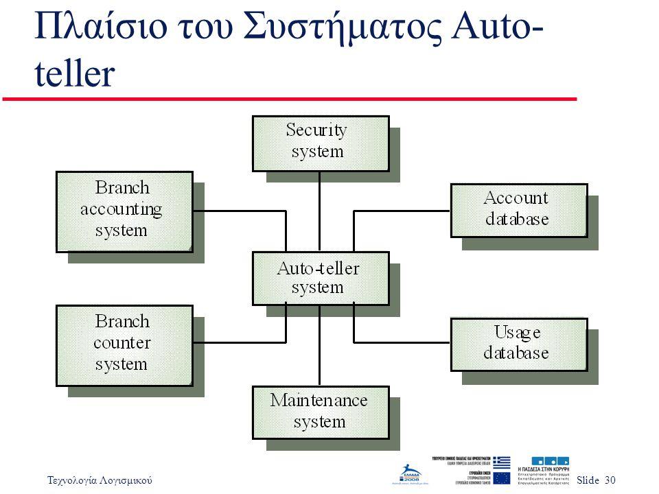 Πλαίσιο του Συστήματος Auto-teller