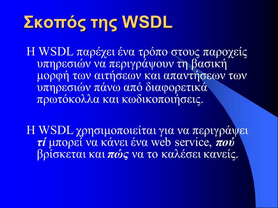 Σκοπός της WSDL