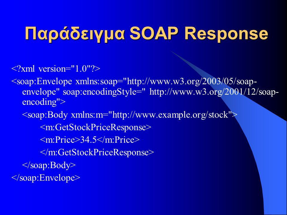 Παράδειγμα SOAP Response