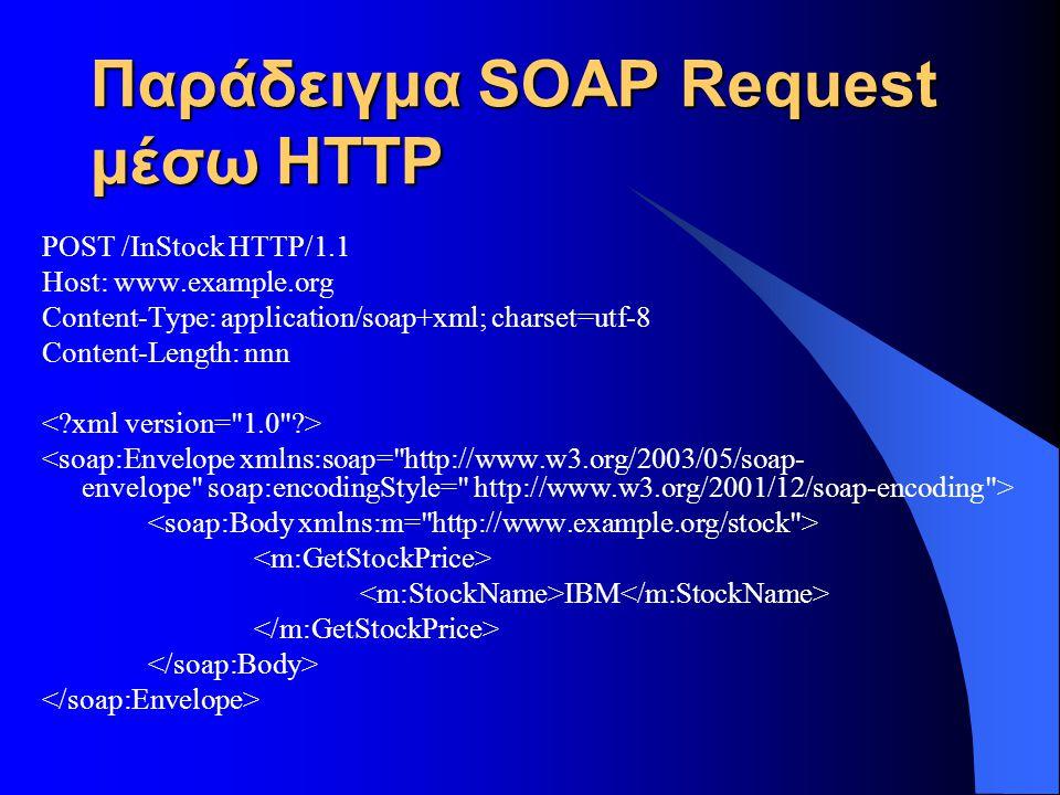 Παράδειγμα SOAP Request μέσω HTTP
