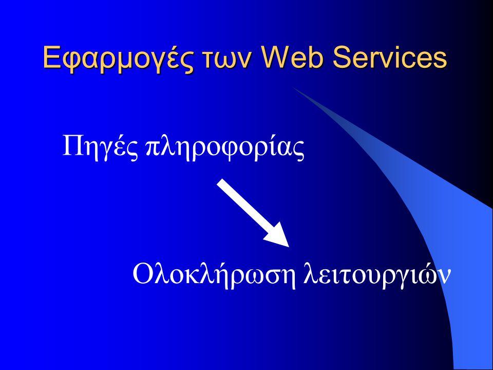Εφαρμογές των Web Services