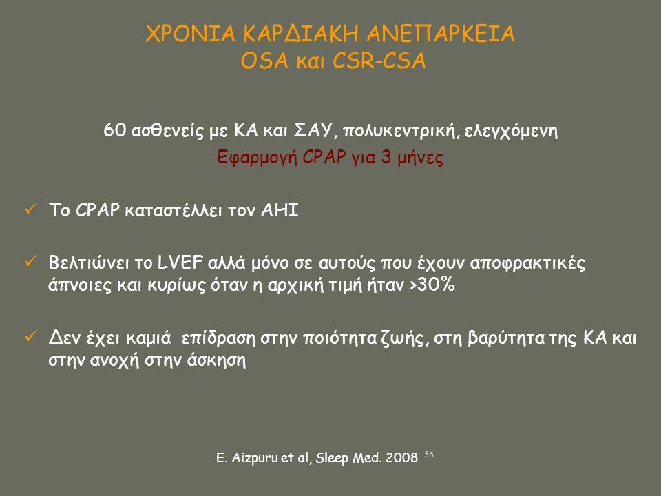 ΧΡΟΝΙΑ ΚΑΡΔΙΑΚΗ ΑΝΕΠΑΡΚΕΙΑ OSA και CSR-CSA