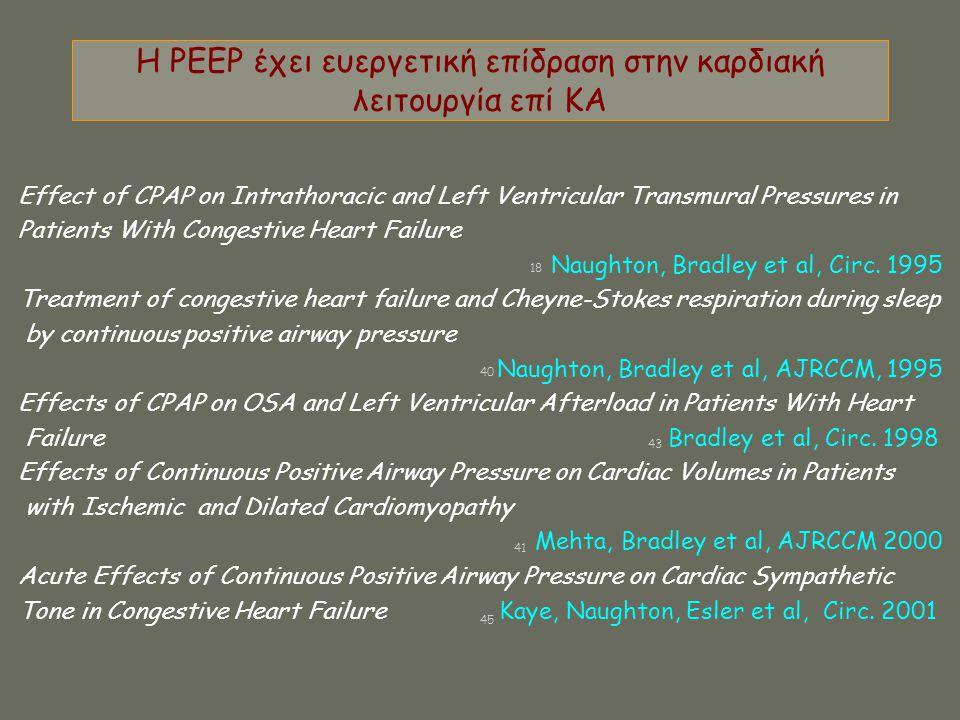 Η PΕΕP έχει ευεργετική επίδραση στην καρδιακή λειτουργία επί ΚΑ