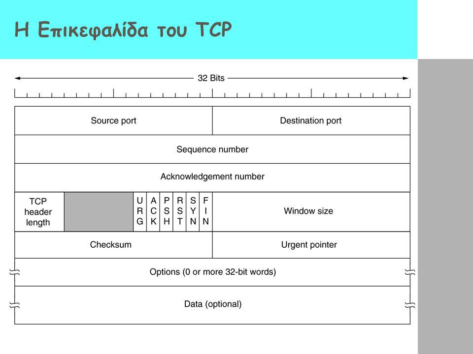 Η Επικεφαλίδα του TCP