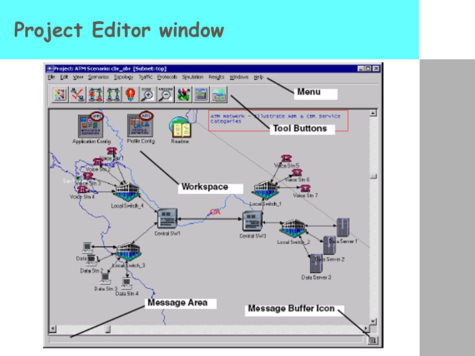 Project Editor window