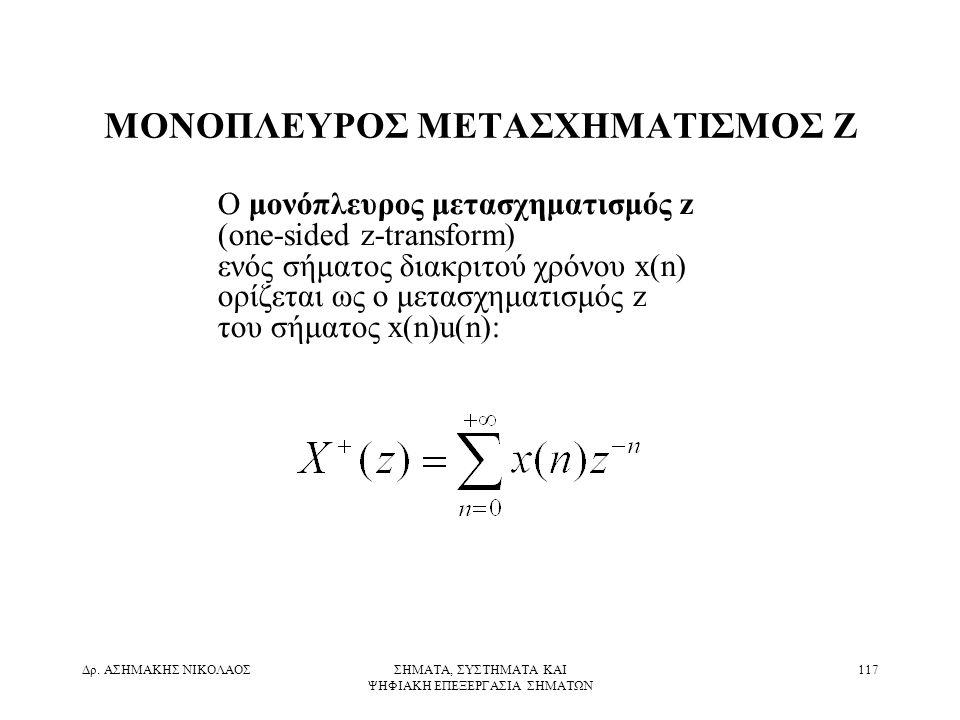 ΜΟΝΟΠΛΕΥΡΟΣ ΜΕΤΑΣΧΗΜΑΤΙΣΜΟΣ Z