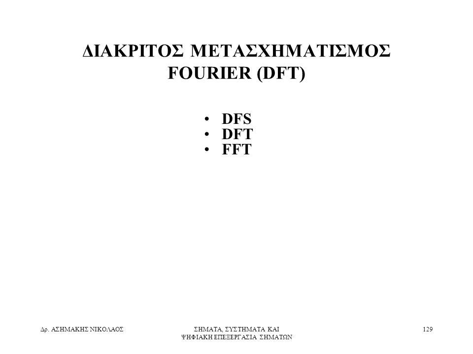 ΔΙΑΚΡΙΤΟΣ ΜΕΤΑΣΧΗΜΑΤΙΣΜΟΣ FOURIER (DFT)