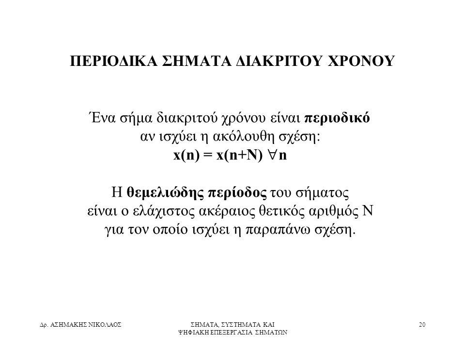 ΠΕΡΙΟΔΙΚΑ ΣΗΜΑΤΑ ΔΙΑΚΡΙΤΟΥ ΧΡΟΝΟΥ
