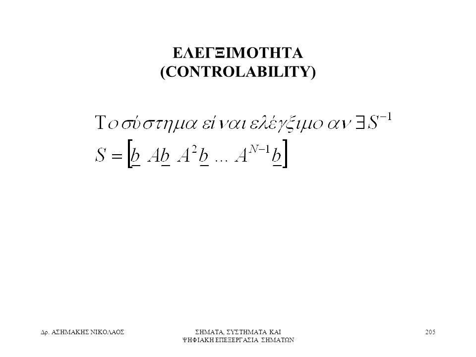 ΕΛΕΓΞΙΜΟΤΗΤΑ (CONTROLABILITY)
