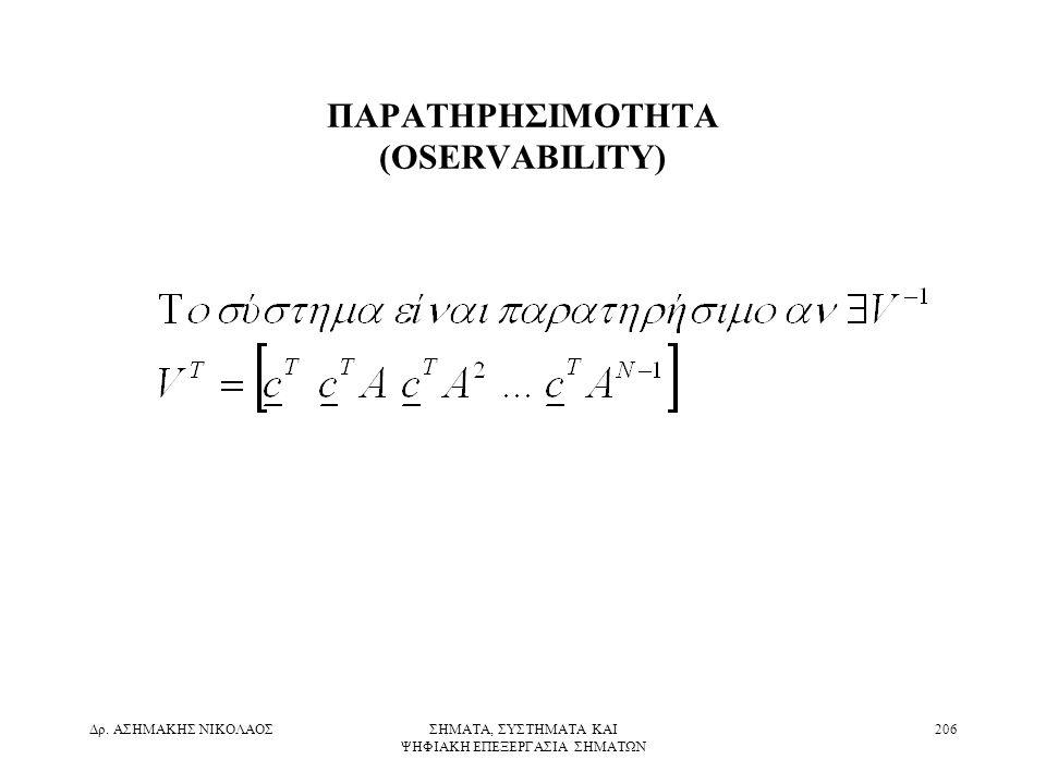 ΠΑΡΑΤΗΡΗΣΙΜΟΤΗΤΑ (OSERVABILITY)