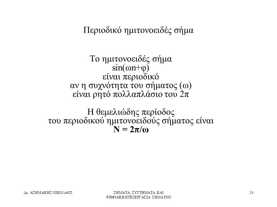 Περιοδικό ημιτονοειδές σήμα