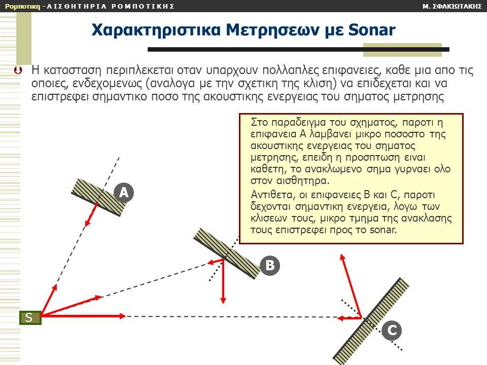 Xαρακτηριστικα Mετρησεων με Sonar